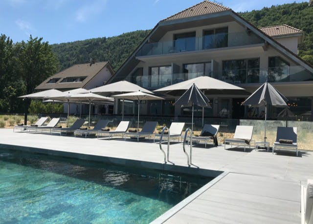 brand new spa hotel overlooking stunning lake annecy. Black Bedroom Furniture Sets. Home Design Ideas